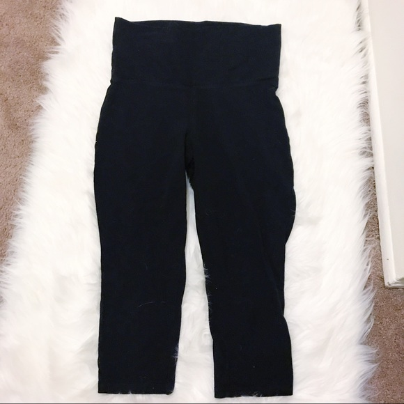 3100bf96183f9 TARGET mossimo supply black crop foldover leggings.  M_5ad40f7e2ae12f21ad3e4f87